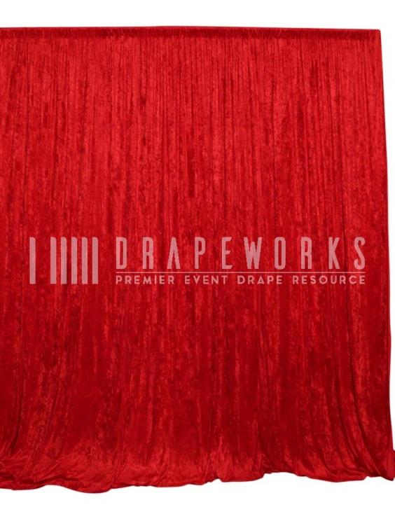 Velour Red Drapeworks