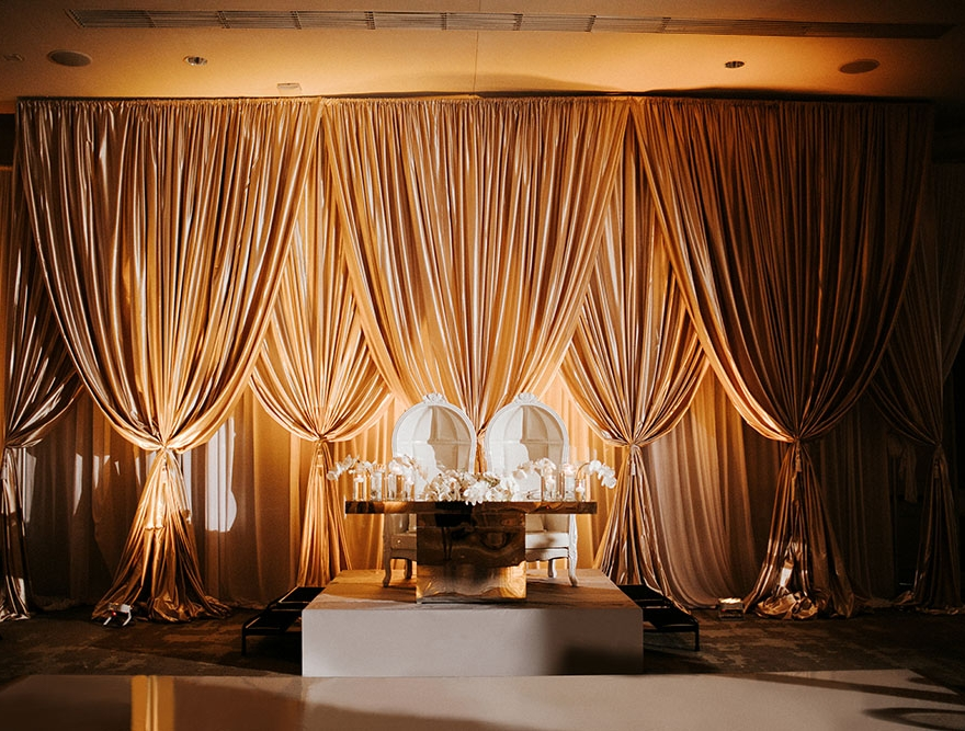 NOBU EDEN ROC WEDDING DRAPERY